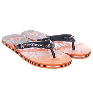 Вьетнамки  Molokai Incline Black/Orange Quiksilver. Цвет: оранжевый,синий