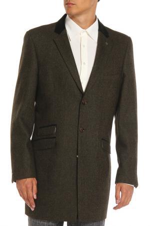 Пальто CAVANI. Цвет: зеленый