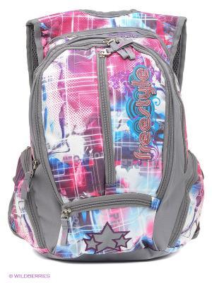 Рюкзак UFO PEOPLE. Цвет: серый, розовый