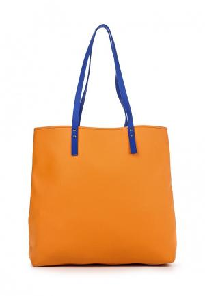 Сумка Pleathure. Цвет: оранжевый