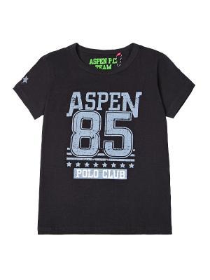 Футболка Aspen Polo Club. Цвет: черный