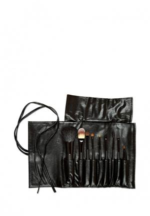 Набор кистей для макияжа Zinger. Цвет: черный
