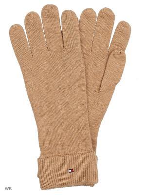 Перчатки Tommy Hilfiger. Цвет: бежевый