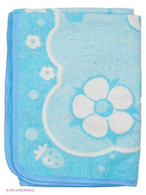 Одеяло Baby Nice. Цвет: светло-голубой, белый