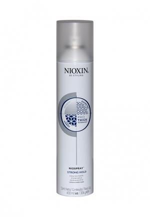 Лак спрей сильной фиксации Nioxin. Цвет: белый