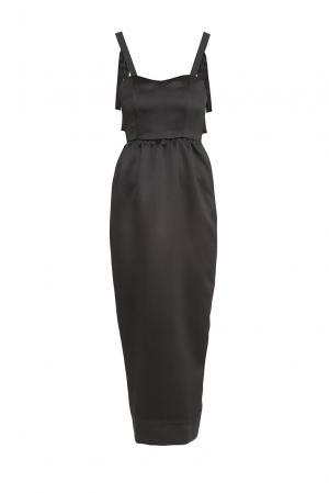 Платье из искусственного шелка 177160 Cyrille Gassiline. Цвет: черный