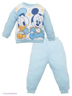 Пижама Disney. Цвет: голубой