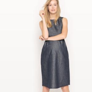 Платье для периода беременности La Redoute Collections. Цвет: синий индиго