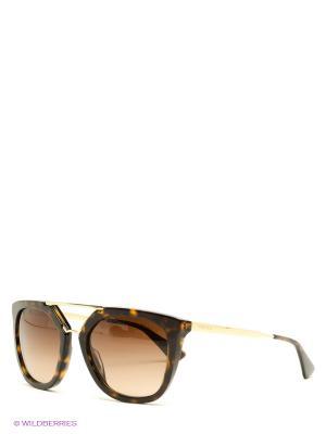 Очки солнцезащитные PRADA. Цвет: темно-коричневый