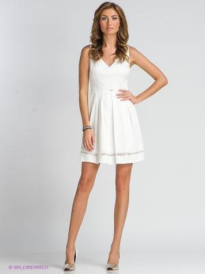 Платье TOPSANDTOPS. Цвет: белый