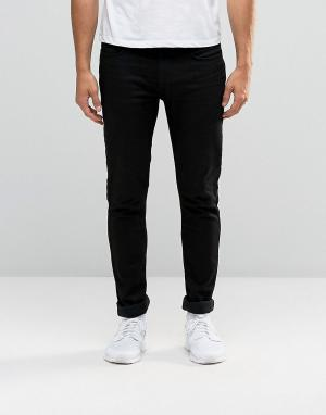 Antioch Черные облегающие джинсы с покрытием. Цвет: черный