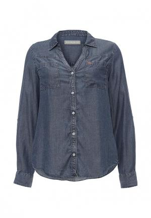 Рубашка джинсовая Napapijri. Цвет: синий