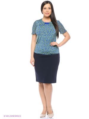 Блузка Milana Style. Цвет: синий