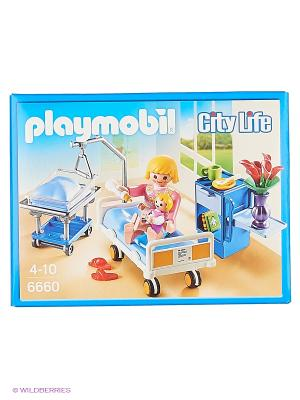 Детская клиника: Комната матери и ребенка Playmobil. Цвет: синий