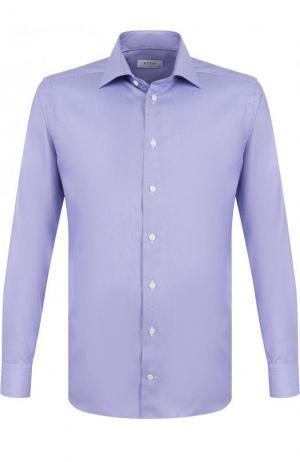 Хлопковая сорочка с воротником кент Eton. Цвет: фиолетовый