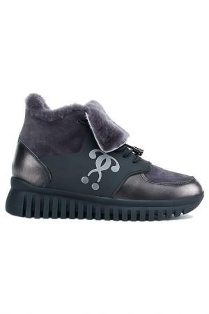 Ботинки NURIA. Цвет: черный, серый