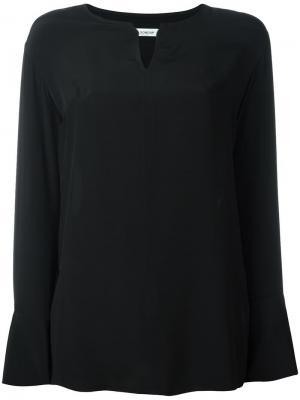 Блузка с V-образным вырезом Dondup. Цвет: чёрный