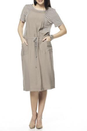 DRESS Zedd Plus. Цвет: beige