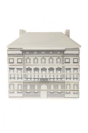 Набор фарфоровых тарелок Palazzo Signoria Seletti. Цвет: черно-белый