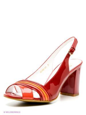 Босоножки Moda Donna. Цвет: темно-красный