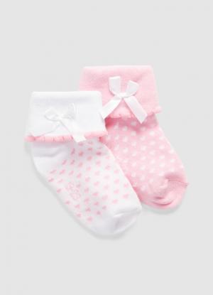 Комплект из 2 пар носков для девочек OSTIN. Цвет: светло-розовый