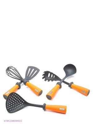 Набор кухонных аксессуаров Frybest. Цвет: оранжевый