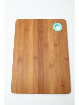 Доска разделочная, 28х20х1см, бамбук, силикон Vetta. Цвет: синий