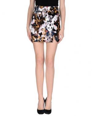 Мини-юбка ANTIPODIUM. Цвет: темно-коричневый