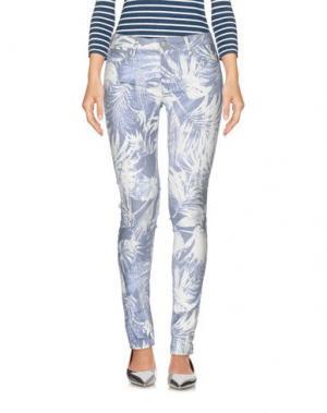 Джинсовые брюки REIKO. Цвет: белый