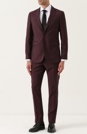 Шерстяной костюм с пиджаком на двух пуговицах Burberry. Цвет: бордовый