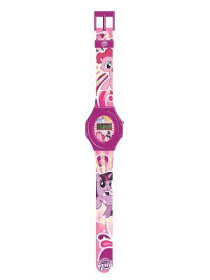 Часы наручные электронные My Little Pony,цвет:фиолетовый Pony. Цвет: темно-фиолетовый, фиолетовый, бледно-розовый, розовый