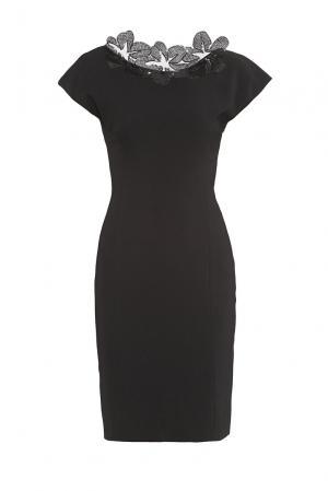 Платье из искусственного шелка в пайетках 180491 Cristina Effe. Цвет: черный