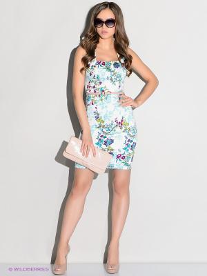 Платье Stets. Цвет: голубой, белый, зеленый