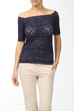 Легкая кружевная блуза D.Exterior. Цвет: синий