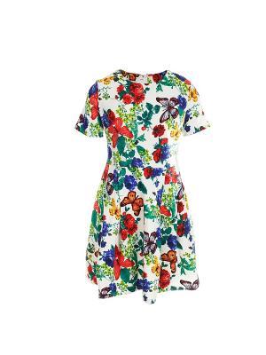 Платье из плотного хлопка с короткими рукавами COCOS