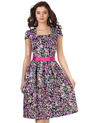 Платье OLIVEGREY. Цвет: черный, розовый