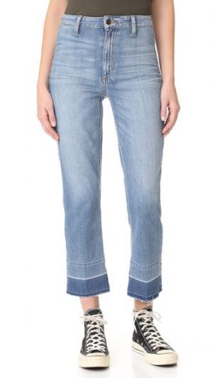 Прямые укороченные джинсы Jane с высокой посадкой Joe's Jeans. Цвет: сине-голубой