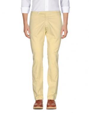 Повседневные брюки MICHAEL COAL. Цвет: светло-желтый