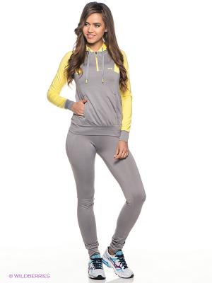 Спортивный костюм ADDIC. Цвет: серый, желтый