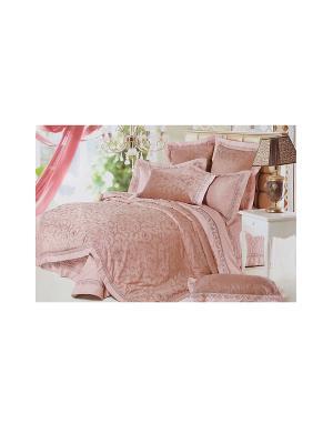 Комплект постельного белья 5 предметов HAMRAN. Цвет: розовый
