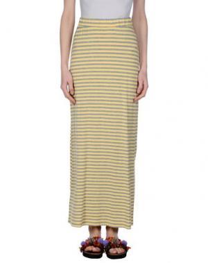 Длинная юбка SHE WISE. Цвет: желтый