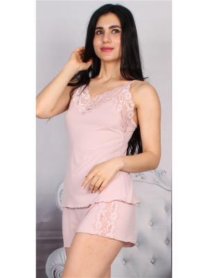 Комплект (майка и шорты) MARIPOSA. Цвет: бледно-розовый
