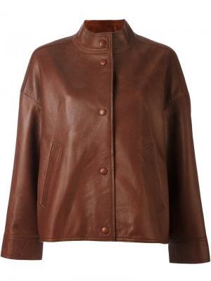 Куртка на пуговицах Aalto. Цвет: коричневый