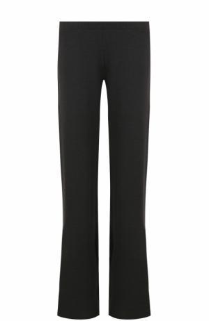 Однотонные расклешенные брюки с эластичным поясом Pietro Brunelli. Цвет: черный