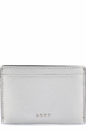 Кожаный футляр для кредитных карт DKNY. Цвет: серебряный