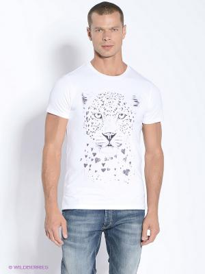 Футболка Leopard Sketch Alexander Konasov. Цвет: белый