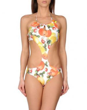 Слитный купальник MISS NAORY. Цвет: оранжевый