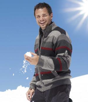 Трикотажный Куртка с Подкладкой из Флиса AFM. Цвет: черныи
