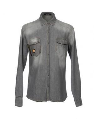 Джинсовая рубашка TAKESHY KUROSAWA. Цвет: серый