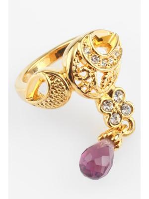 Кольцо Inesse M. Цвет: золотистый, бордовый